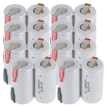 True capacity! 16 pcs SC battery subc battery rechargeable nicd battery replacement 1.2 v accumulator 1800 mah power bank