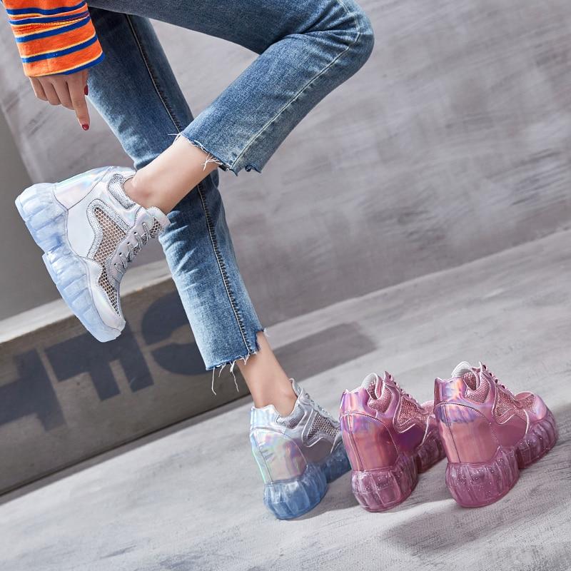 argent Baskets forme Femme Femmes Gelée Rose Ruban Pour Transparent Chaussures Sport Décontractées Respirantes Rose Plate Swyivy De D'été 2019 zSpGVqUM