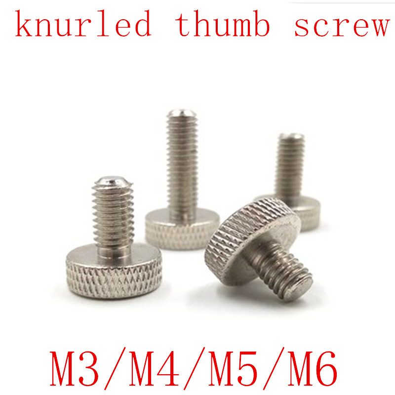 12 1//4-20 x 7//8 Thumb Screws with Tee//Wing Butterfly Thumb Screws