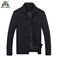 2017 New style of spring and autumn season lapel Loose leisure jacket for middle aged and elderly men 100zr