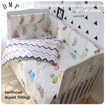 Discount! 6/7pcs  Baby Cot Bedding Set Baby Girl Nursery Bedding  Cot Children Bedclothes,120*60/120*70cmDiscount! 6/7pcs  Baby Cot Bedding Set Baby Girl Nursery Bedding  Cot Children Bedclothes,120*60/120*70cm