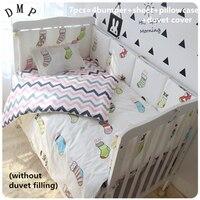 Discount 6 7pcs Baby Cot Bedding Set Baby Girl Nursery Bedding Cot Children Bedclothes 120 60