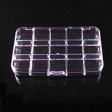 2 teile/los 15 Raster Transparentem Kunststoff Schmuck Boxen Acryl Kosmetische Fall Nail art Pille Box Portable Storage Container Y2662(China)