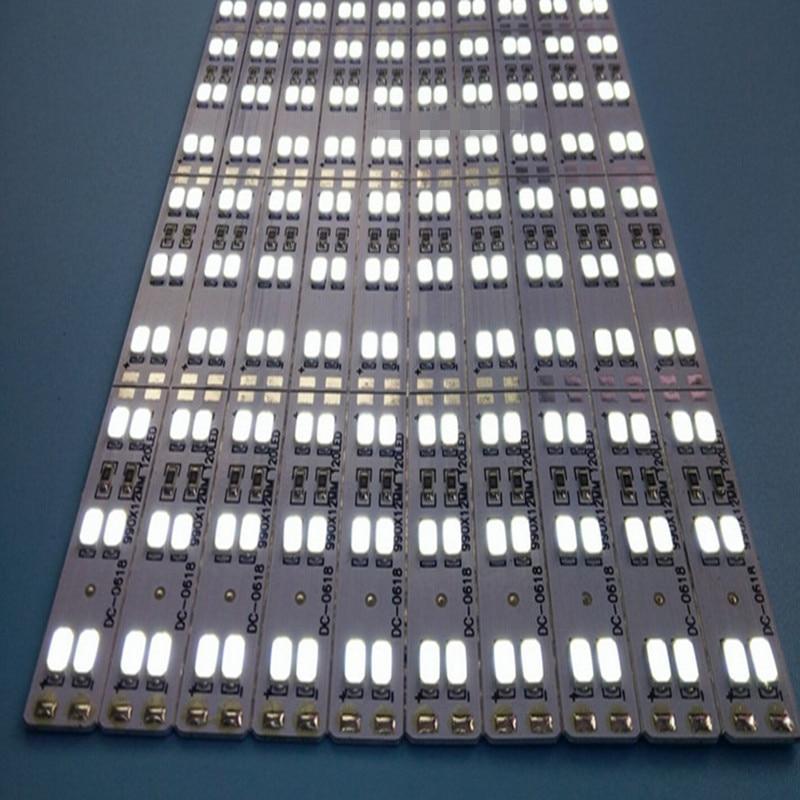 Двойной ряд Светодиодные Жесткая полосы 5630 5730 бар кухня свет белый теплый белый 144 светодиодов/M 12 мм 10 шт. 50 см 72 ledspcb DC12V Samsung Сеул