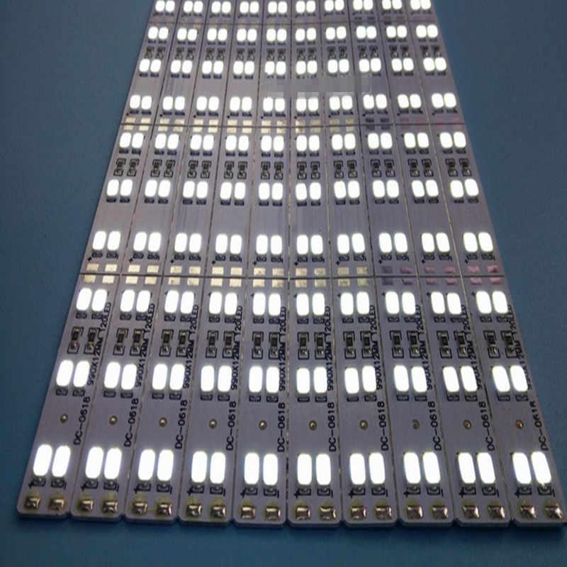Dwurzędowe Led sztywny pasek 5630 5730 bar oświetlenie kuchni biały ciepły biały 144 diod/m 12mm 10 sztuk 50 cm 72 LedsPCB DC12V SAMSUNG seulu