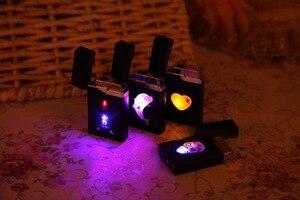 Image 5 - สีสัน LED ขนาดกะทัดรัดบิวเทนไฟแช็กไฟฉาย Turbo บุหรี่อุปกรณ์เสริมแก๊ส 1300 C Windproof ซิการ์ไฟแช็ก