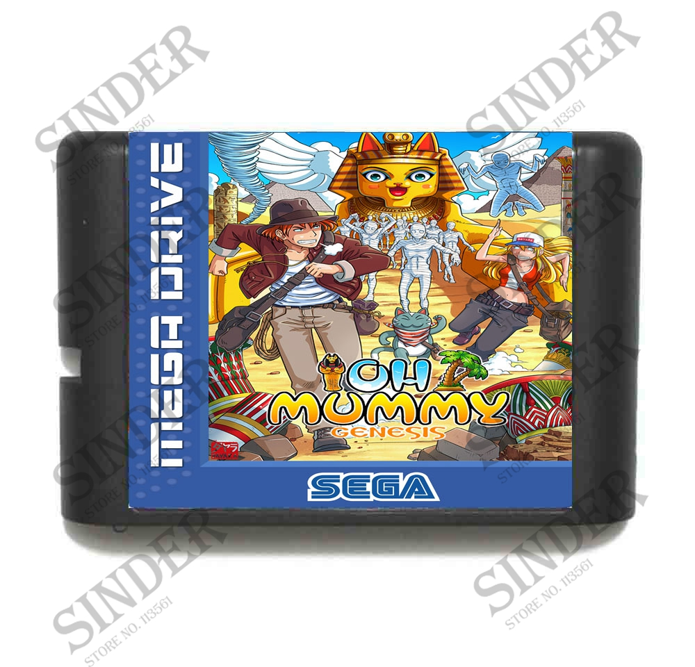 OH Mummy 16 bit MD Game Card For Sega Mega Drive For Genesis