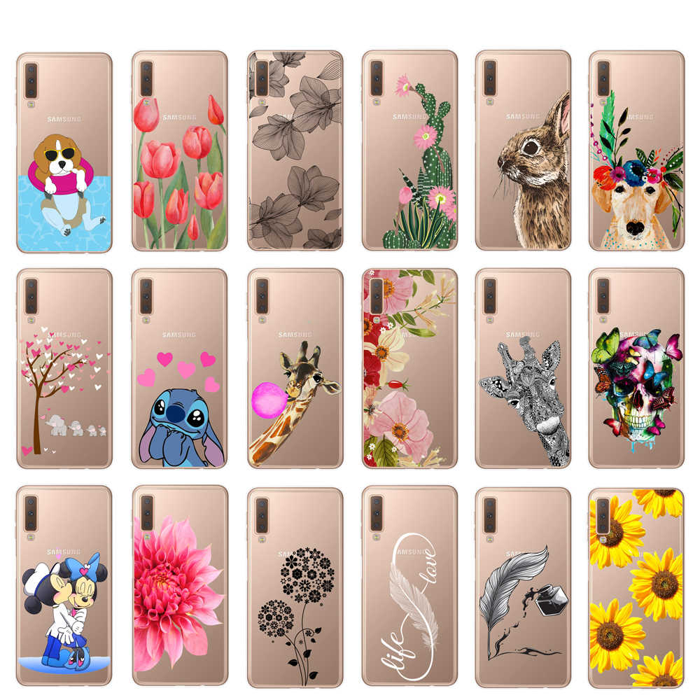 For Samsung Galaxy A10 A20 A30 A40 A50 A60 A70 A80 Case Soft Silicone TPU Phone Case For Samsung A6 A8 Plus A7 2018 Back Cover