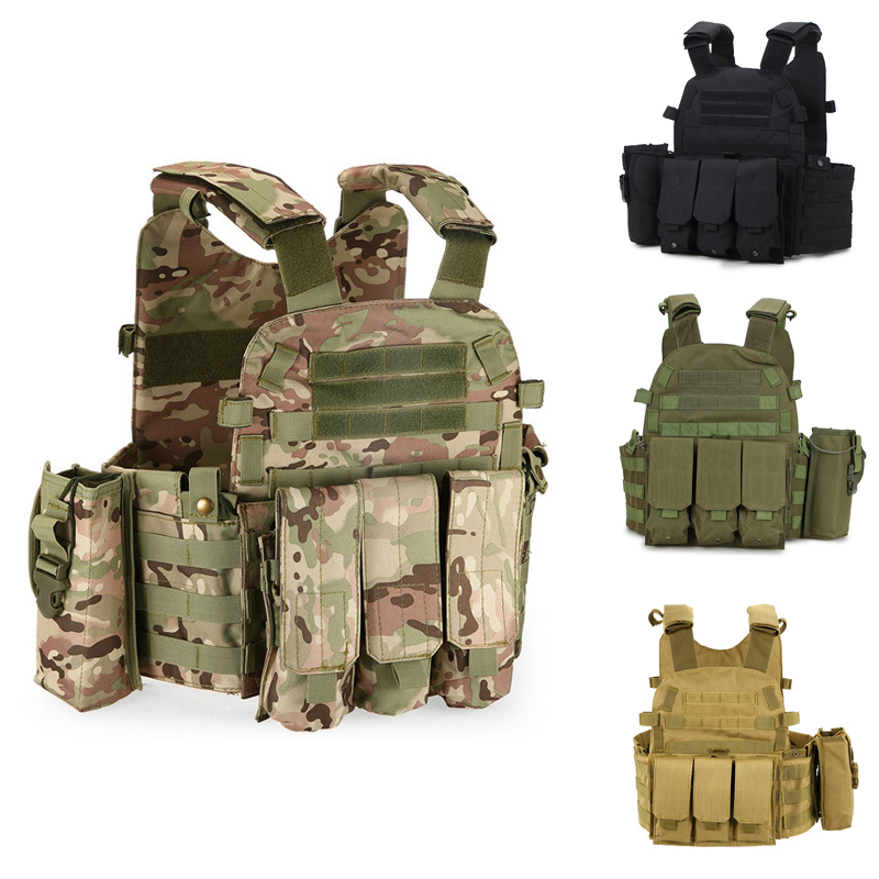 New Molle System Military Tactical Vest Waistcoat Combat Assault Plate Carrier Airsoft Shooting Paintball Vest CS Hunting Vest hot selling jiepolly military vest four in one tactical vest top quality nylon airsoft paintball combat assault protective vest