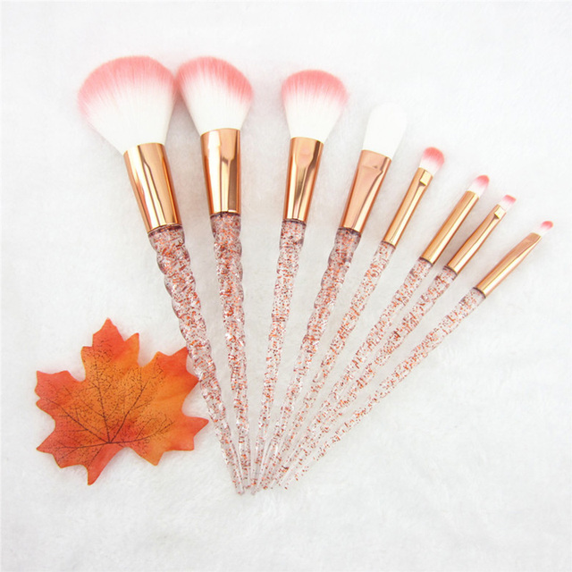 Eyelash Diamond Crystal Makeup Brush Set