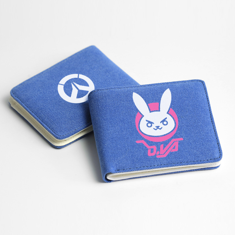 Game OW Overwatch Over watch D.Va DVA Bastion SOLDIER:76 canvas wallet purse coin bag card case