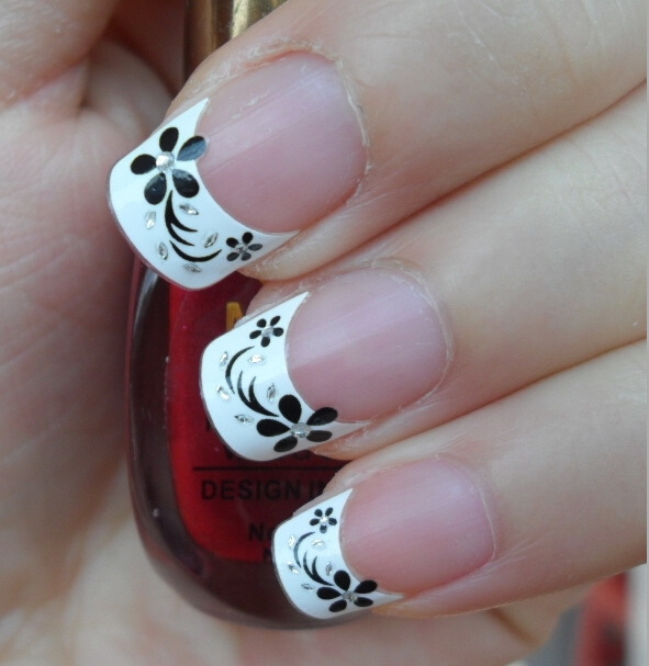 Fancy Nail Art Decoration 2016: 5Sheet 2016 New Fashion French Manicure Nail Tips Stickers