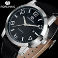 FORSINING brand business men mechanical watches genuine leather band casual men's automatic watches male clock relogio masculino