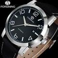 FORSINING marca homens de negócios mecânico automático dos homens relógios casual pulseira de couro genuíno relógios masculino relógio relogio masculino