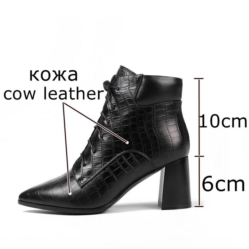 Inside Hiver De Chaussures Cuir Cheville Talons En Allbitefo no Moto Inside Hauts À Bottes Automne Marque Véritable Mode Plush Filles Pour Femmes Dames qwEgR4T