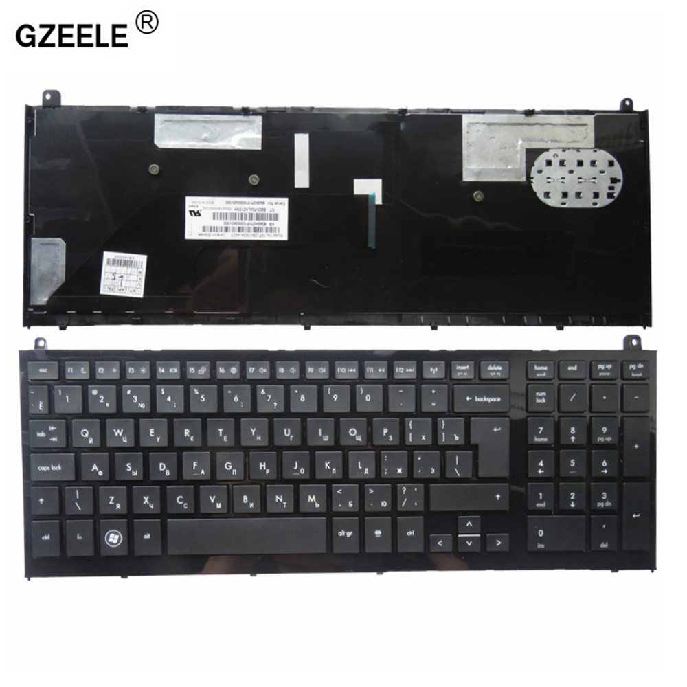 GZEELE Russian Laptop keyboard FOR HP PROBOOK 4520S 4520 4525 4525S RU layout black цена