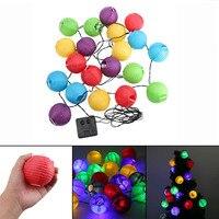 New Lantern Ball Solar String Lights 30 LED Solar Lamp Outdoor Lighting Fairy Globe Christmas Decorative