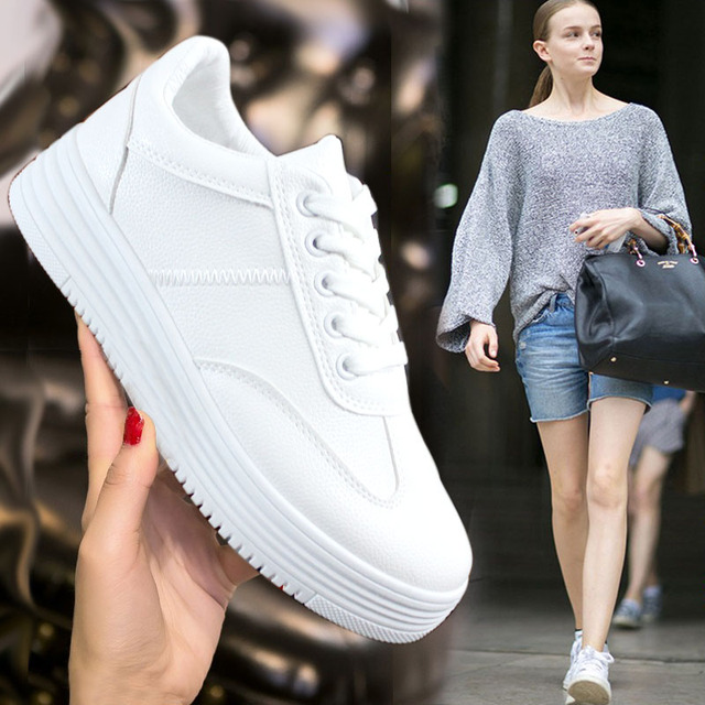 Korean winter lace muffin bottom white shoe female and female all-match flat bottom wool thick cotton padded shoes  shoes