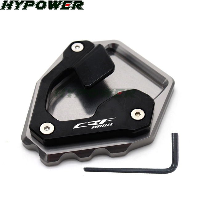 For Honda CRF1000L CRF 1000L Africa Twin CNC Billet Aluminum Kickstand Foot Plate Side Stand Extension Pad Enlarge Extension