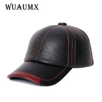 NEW Cowskin Men S Baseball Cap Lined With Cashmere Polo Cap Fall Winter Genuine Leather Hat
