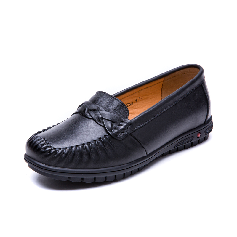 ФОТО Women Flats Loafers Genuine Leather Flat Women Shoes Brand Footwear for Women Vintage Ladies Shoes for Spring Summer