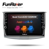 FUNROVER 2G RAM 9 Android 8.0 Car dvd multimedia stereo for Volkswagen VW Passat B6 B7 CC Magotan 2011 2014 GPS navi autoradio