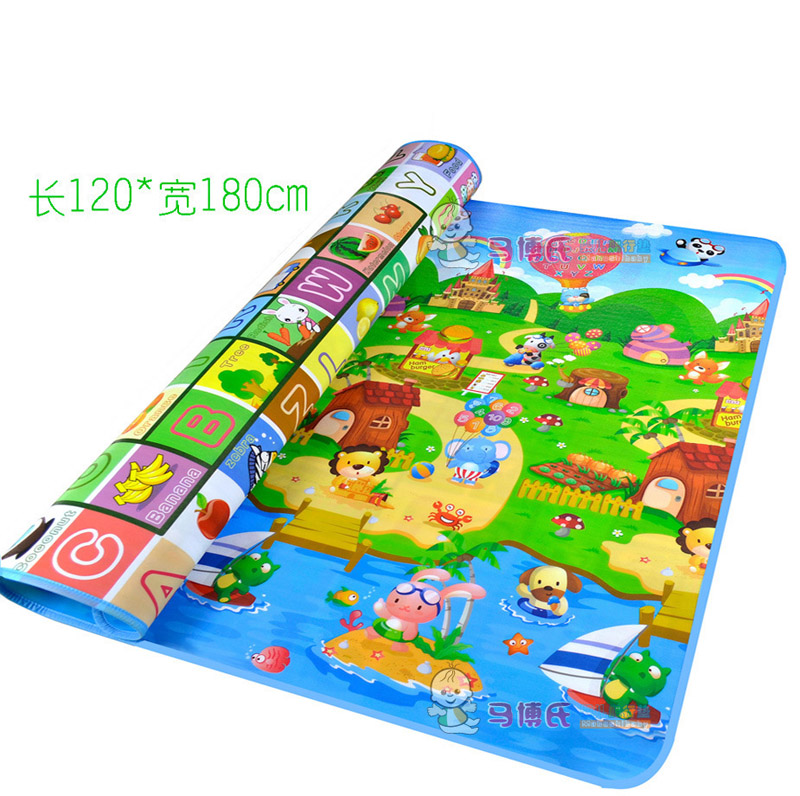 180*120cm Double-side Letters Farm Baby Crawling Pad Newborn Infant Toddler Activity Playmat Climbing Floor Blanket Gym Play Mat