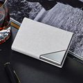 Wholesale Anti safe Card Holder Rfid protect Card Wallet Credit Card Case Metal Women Men Leather Waterproof ID Card Protector