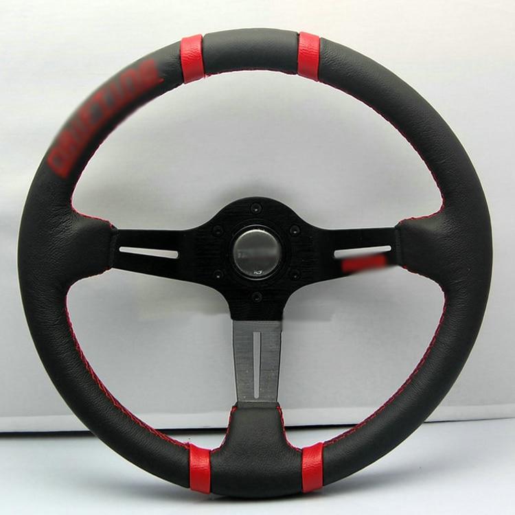Ipoboo Новый универсальный подходит гонки 13050 красный/340 мм из искусственной кожи глубокое блюдо сплав Руль