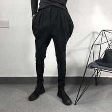 S-6XL! оригинальные мужские knickerbockers модные haren узкие брюки, индивидуальные узкие бриджи