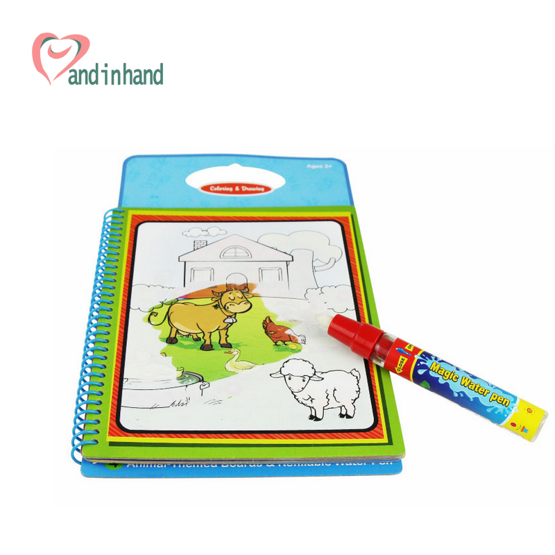 aliexpresscom buy coloring book for kids toy water magic drawing animal painting board early learning toys for children colorful preschool toys from