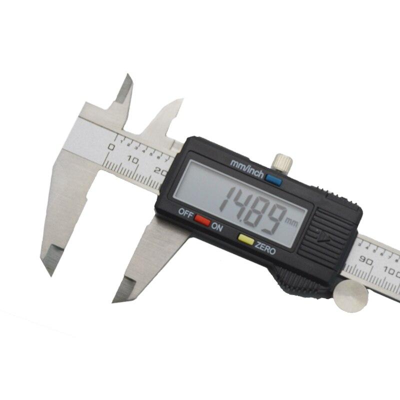 Image 3 - Digital electronic vernier caliper micrometer 150mm 6' LCD display Widescreen Stainless steel metal caliper Depth measuring tool-in Calipers from Tools
