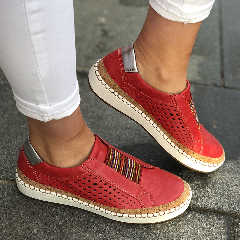 Summer Women Sneakers 2019 Shallow Loafers Vulcanized Shoes Breathable Hollow Out Female Casual Flats Ladies Comfortable
