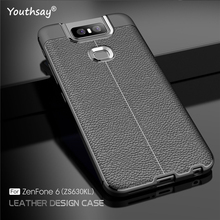 For Asus Zenfone 6 Case Luxury Leather Silicone Fundas Cover ZS630KL