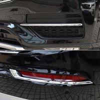 4* Chrome Front + Rear Fog Light Lamp Stripe Cover Trim For Volvo XC90 2015-2018