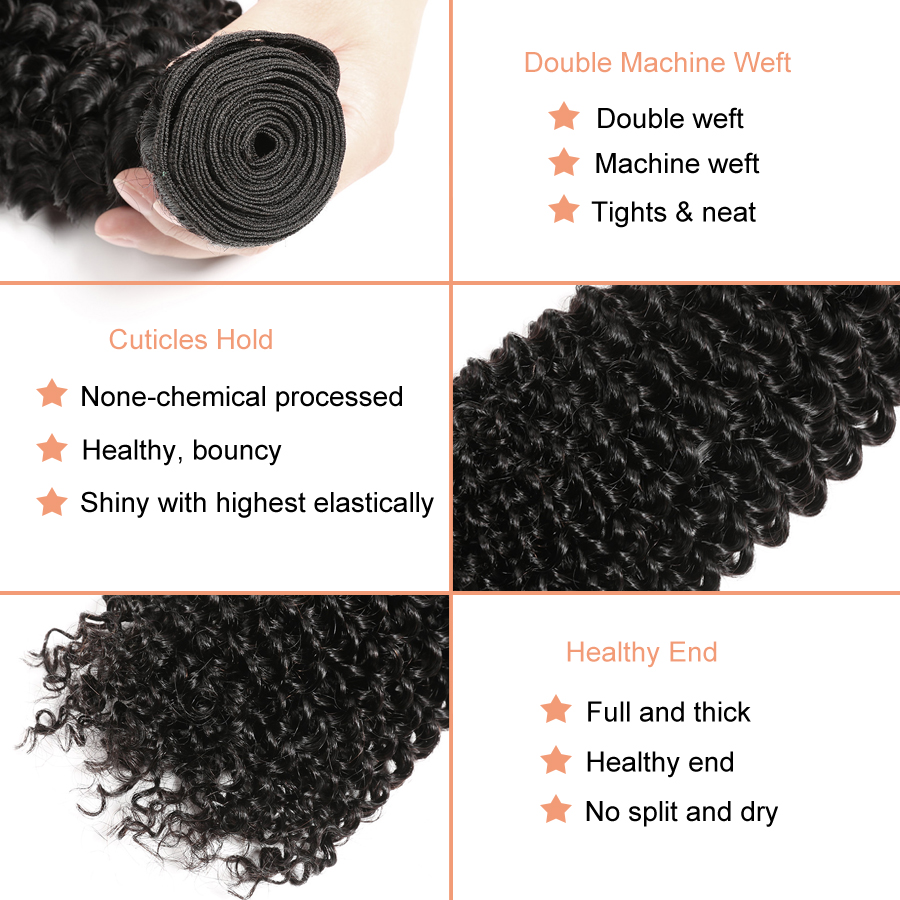 Afro Kinky Curly Hair Bundles Deal Human Hair Bundles Brazilian Hair Weave Bundles 100% Human Hair Extension Non Remy Weave (6)