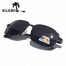 KUJUNY Retro Rectangle Mens Polarized Sunglasses Vintage Pol