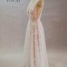 Сексуальные Длинные платья выпускного вечера v-образным вырезом длиной до пола халат де Бал longue кружева официальное платье из тюли