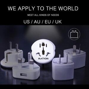 Image 3 - Auktion 10 ピース/ロットユニバーサル eu プラグアダプタ 16A 電気 ac 250 v 旅行充電器壁の電源アダプタ米国英国 au