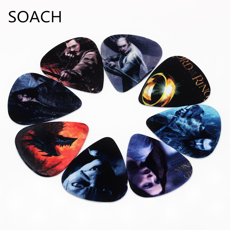 SOACH 10pcs/Lot 1.0mm Thickness Guitar Strap Guitar Parts Lord Of The  Mixed Pattern Guitar Picks