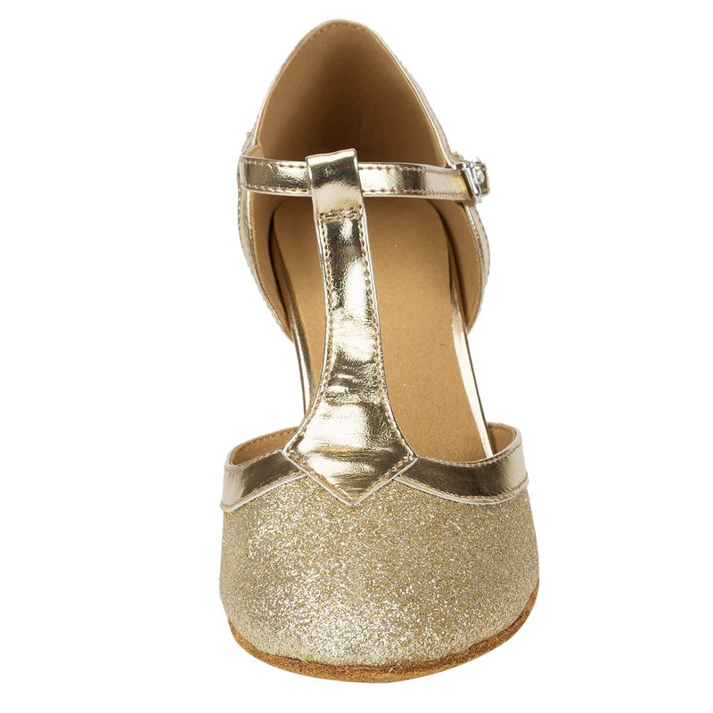 HXYOO 2018 In Stock Glitter Closed Toe Ballroom Shoes Women Salsa Dance  Shoes Latin Tango Gold Silver Soft Sole WK025-in Dance shoes from Sports ... 56eda5d546db