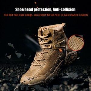 Image 5 - Soldado livre esportes ao ar livre acampamento caminhadas tático militar botas dos homens sapatos de escalada leve montanha bota
