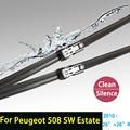"""Escovas para Peugeot 508 SW Estate (a partir de 2010) 26 """"+ 26"""" R fit push os braços do limpador button apenas"""