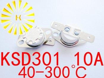 KSD301 10A 40-300 градусов Керамика 250 В нормально замкнутый/открытым Температура выключатель Термостат для стерилизованные тумба x 100 шт.