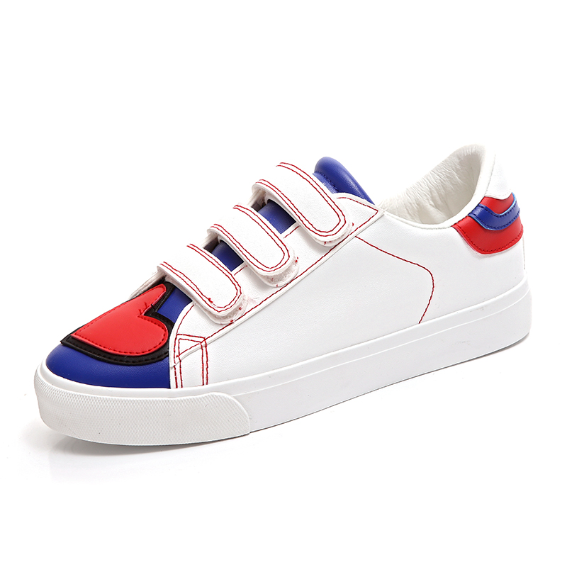 ФОТО Magic love white Casual shoes woman Korean brand canvas shoes flat women Leisure shoes soled shoes