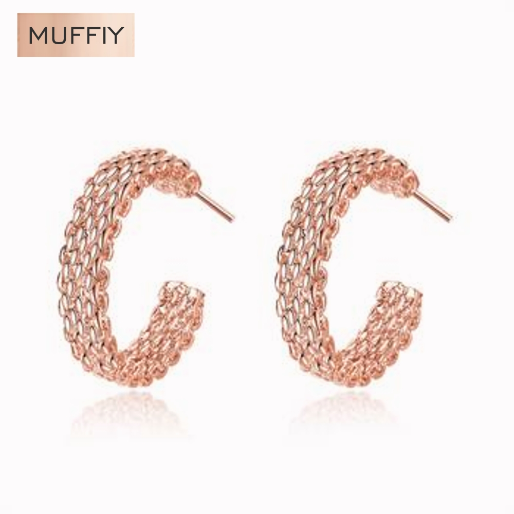career sites reviews online shopping career sites reviews on rose gold woven web site round earrings jewelry round stud earring career rose gold plated women girls