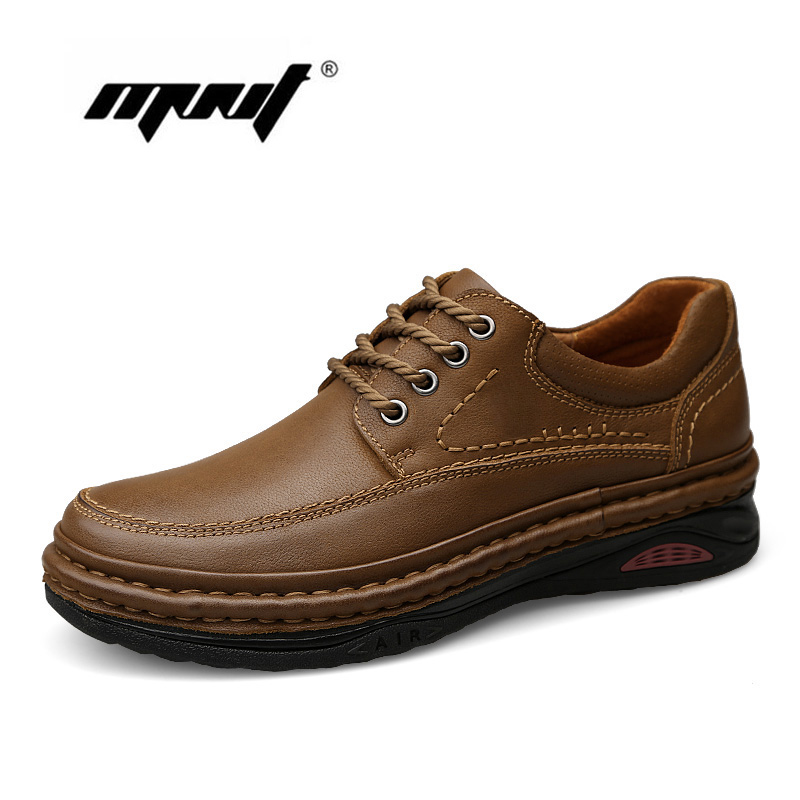Top Quality Retro Men Boots High Natural Leather Ankle Platform Autumn Working Shoes