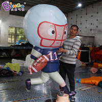 EXQUISITE CRAFT 2M inflatable rugby sport player blow up athlete American soccer personalized for advertising decoration item