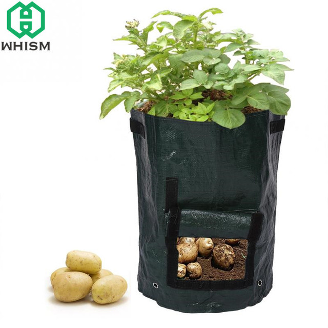 WHISM Potato Planting Bags Outdoor Cultivation Container Vertical Garden Pot Vegetable Planter PE Grow Bag Home Garden Supplies 1