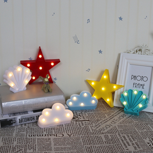 Image 5 - Cartoon Night Lights Unicorn/Flamingo/Cactus/Pineapple/Cloud/Star/Shell/Heart LED Table Lamp For Childrens Bedroom Decoration